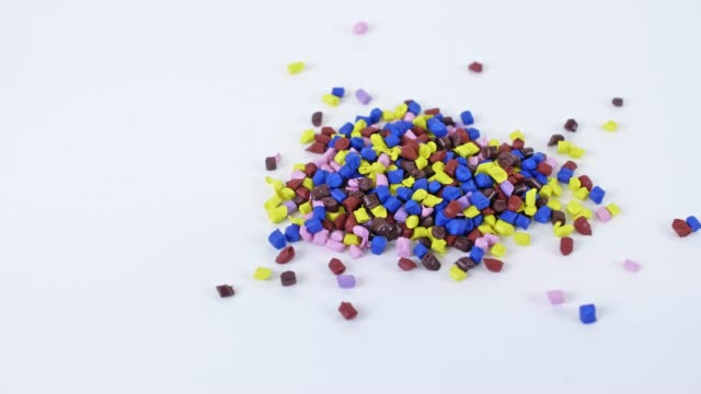 colorful polymer granules - polypropylene stock videos and b-roll footage