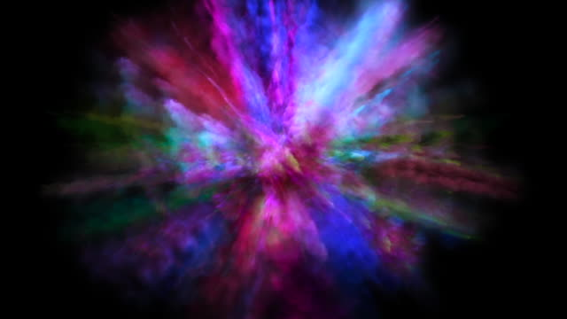 colorful powder explosion in motion. - flour stock videos & royalty-free footage
