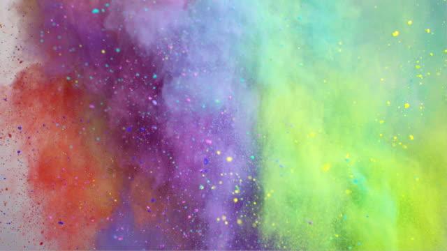 vídeos de stock, filmes e b-roll de colorful powder explosion - maquiagem