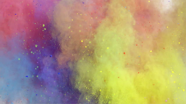 stockvideo's en b-roll-footage met colorful powder explosion - van vorm veranderen