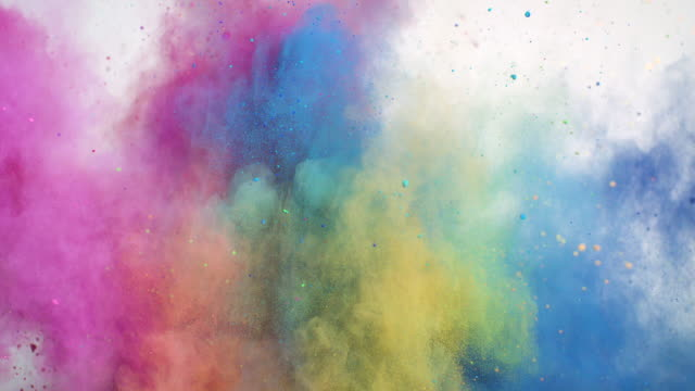 colorful powder explosion - colour image stock videos & royalty-free footage