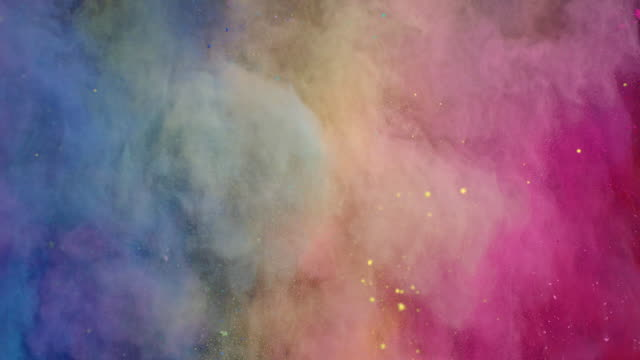 vidéos et rushes de colorful powder explosion - image en couleur