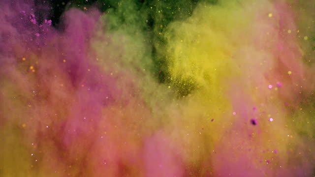 colorful powder explosion - colours stock videos & royalty-free footage