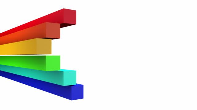 vídeos y material grabado en eventos de stock de colorido arco iris bares bucle (full hd - gráficos de movimiento