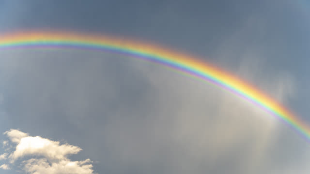 colorful rainbow in nature - cloud sky stock videos & royalty-free footage