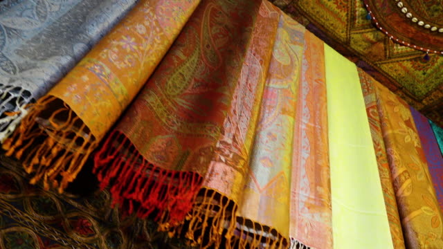 colorful scarves in afghanistan - scarf stock videos & royalty-free footage