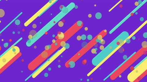 vídeos y material grabado en eventos de stock de coloridos patrones geométricos sin costuras fondo púrpura - diseño temas