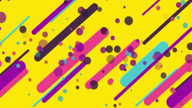 vídeos y material grabado en eventos de stock de coloridos patrones geométricos sin costuras de fondo amarillo - amarillo color