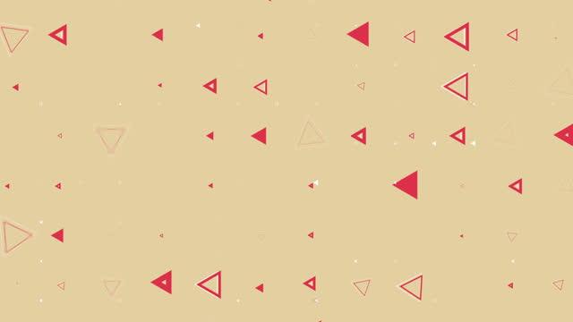 カラフルなシームレスな幾何学的形状パターン背景 - 面白い漫画 - 平面形点の映像素材/bロール