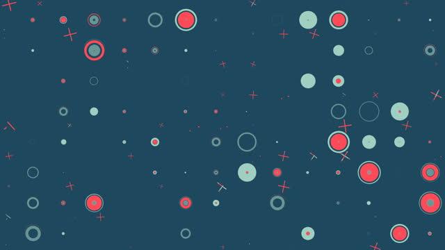 カラフルなシームレスな幾何学的形状パターン背景 - 面白い漫画 - パステルカラー点の映像素材/bロール