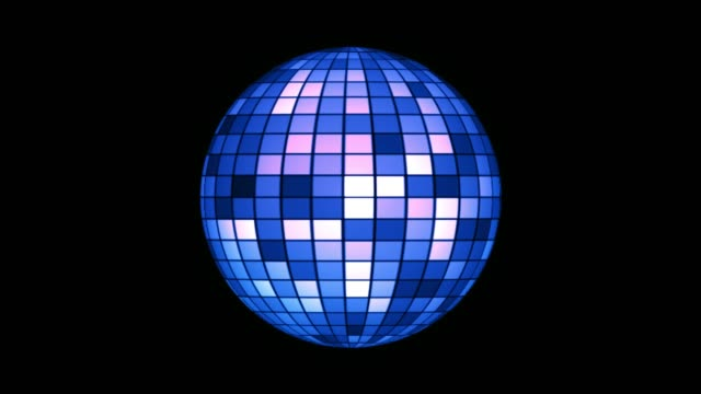 vídeos de stock e filmes b-roll de colorful shining disco ball on alpha channel - reluzente