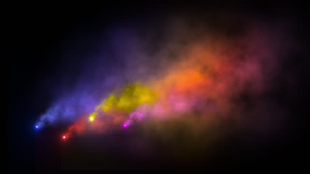Colorful smoke and fire video effect