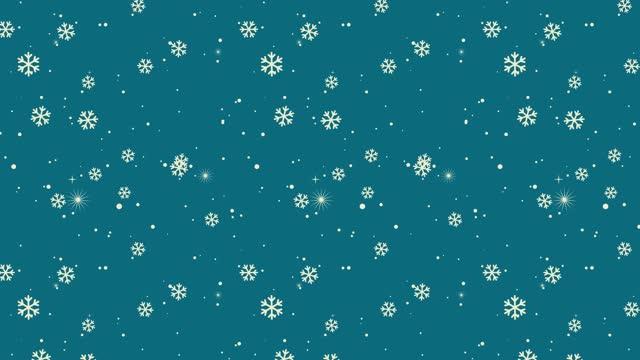 stockvideo's en b-roll-footage met kleurrijke snowflake achtergrond | loopable stock video - cadeau