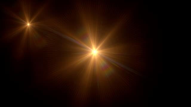 vidéos et rushes de spots colorés et de jets - star shape