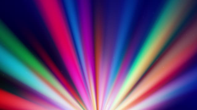 Colorful spotlights rotating