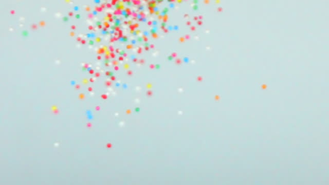 colorful sugar candy balls in slow motion - confectionery stock videos & royalty-free footage