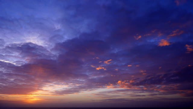 colorful sunset - cloudscape stock videos & royalty-free footage