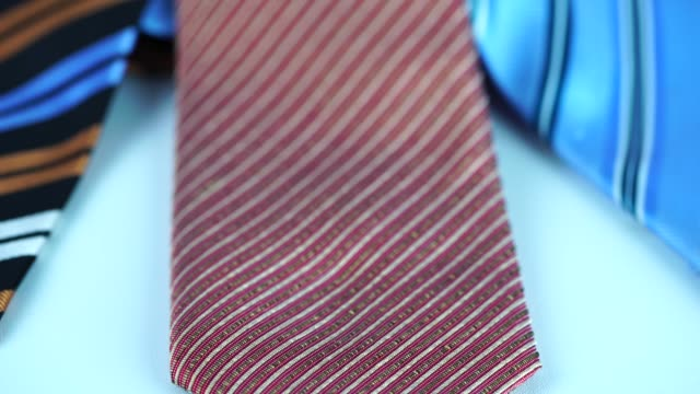 colorful tie collection - necktie stock videos & royalty-free footage