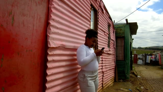 colorful townships of africa - slum stock videos & royalty-free footage
