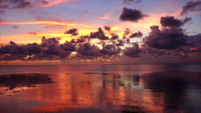 Colorful tropical sunset over the Gulf of Mexico in the Florida Keys