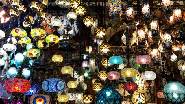 Colorful Turkish lanterns in Grand Bazaar, Istanbul