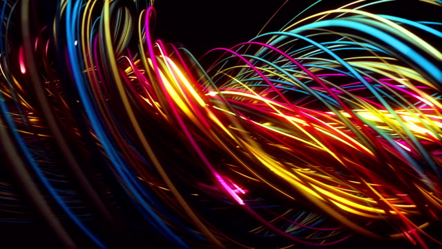 colorful twist animation - vibrant color stock videos & royalty-free footage