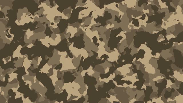 bunte us-armee und militärische digitale tarnung stoff textur hintergrund. lager video-kopierraum - militäruniform stock-videos und b-roll-filmmaterial