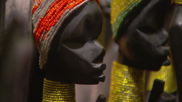 colorful vases top african curios. available in hd - craft stock videos & royalty-free footage