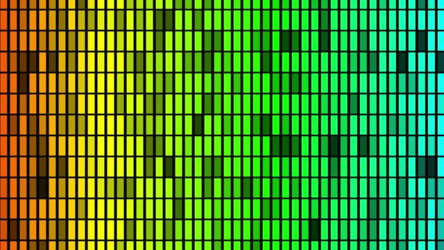 vidéos et rushes de l'égaliseur coloré de boucle de vj - mixage du son