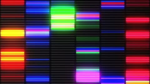 vídeos de stock, filmes e b-roll de equalizador de laço colorido vj - discoteca