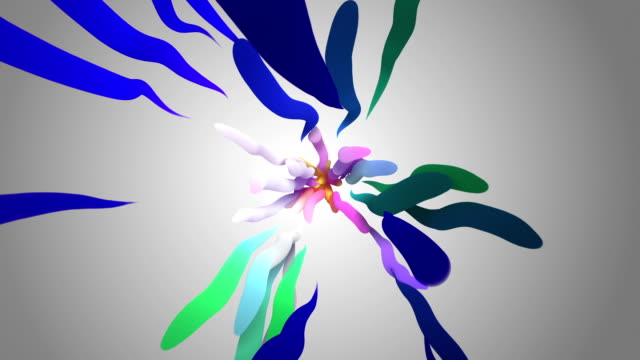 Kleurrijke golvende curven (loopbare)