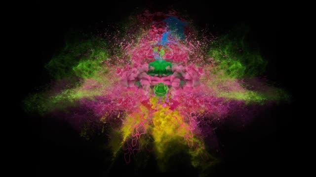 colors explosion - talcum powder stock videos & royalty-free footage