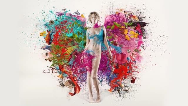 Explosion der Farben