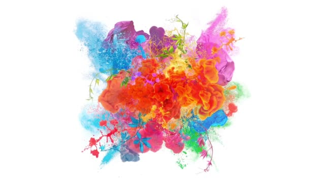 colors explosion - colors stock videos & royalty-free footage