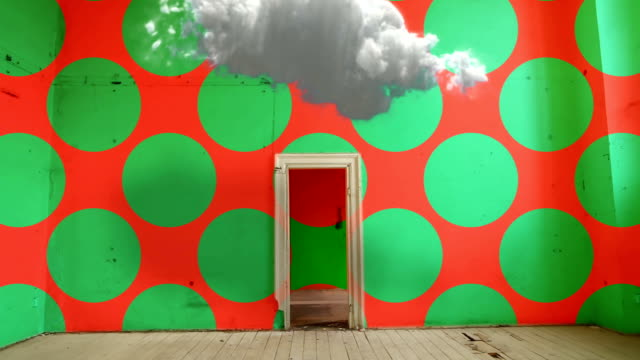 rgb colors interior. green dotted wall. abstract - art stock videos & royalty-free footage