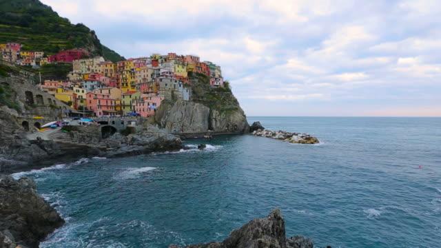 colors of italy series -manarola village , cinque terre - liguria stock videos & royalty-free footage