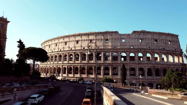 colosseum in rome - colosseo video stock e b–roll