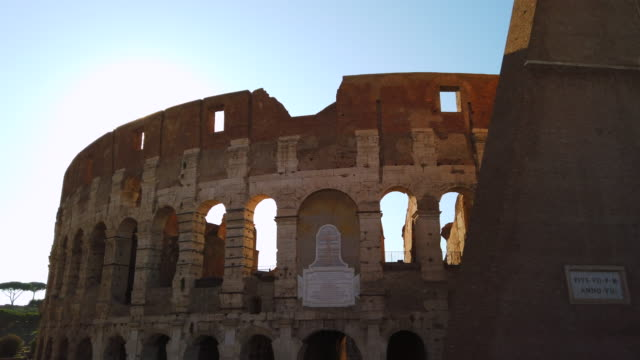 colosseum in rome - amphitheater stock videos & royalty-free footage