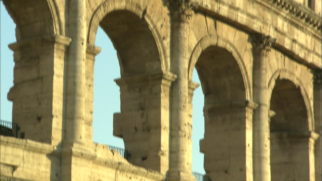 colosseum, rome, italy - construction material stock videos & royalty-free footage