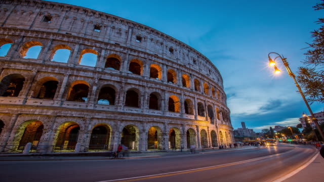 colosseum rome view ,history famous landmark  historic of italy. - amphitheatre stock videos & royalty-free footage