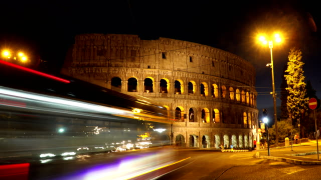 4k: colosseum timelapse in rome, italy - colosseum rome stock videos and b-roll footage