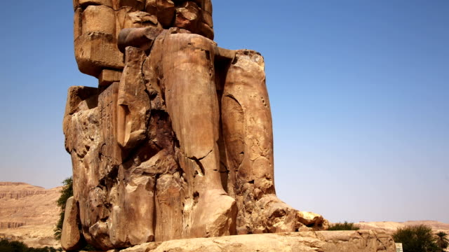 Colossi of Memnon Sculptures in Luxor Egypt