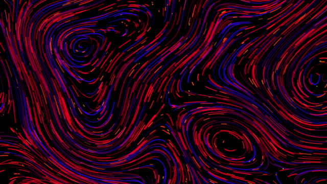 vídeos de stock e filmes b-roll de colourful abstract line swirl pattern background, van gogh style - cor néon