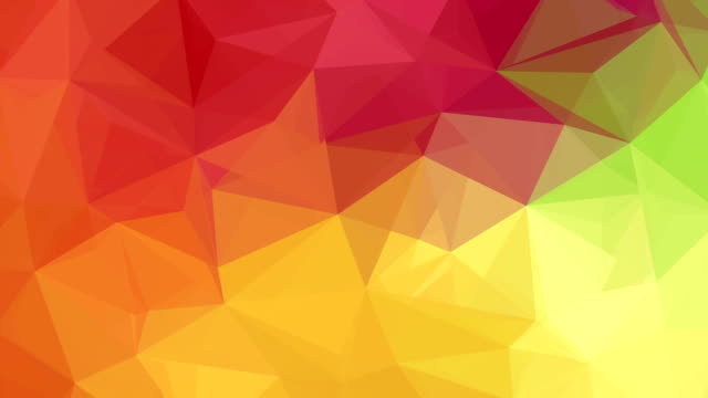 Colourful Abstract Low Poly Triangles Background Loop