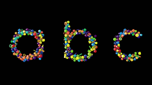 colourful candy-like alphabet lowercase - typescript stock videos & royalty-free footage