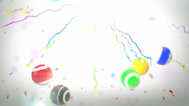 colourful celebration party background - fun bouncy balls (hd) - fiesta background stock videos & royalty-free footage