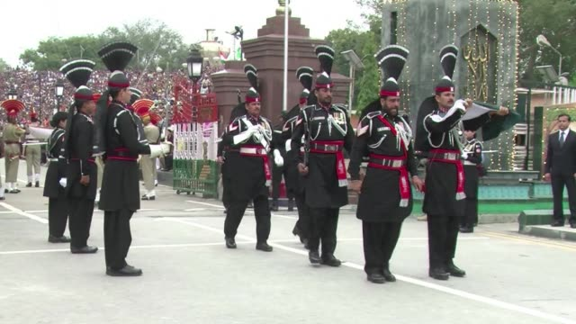 Colourful ceremony on the Pakistan India border to celebrate Pakistans National Day CLEAN Pakistan celebrates its National Day at bo on March 24 2014...
