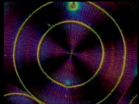 Colourful crystals, concentric circle pattern