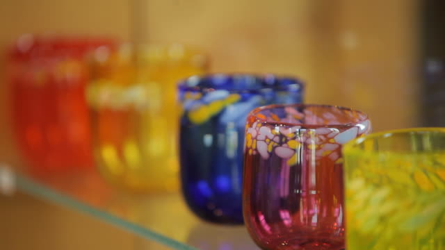 colourful glasses - five objects stock videos & royalty-free footage