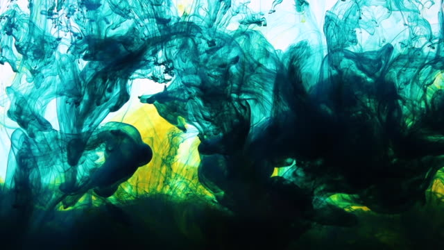 colourful ink underwater - curlicue stock videos & royalty-free footage